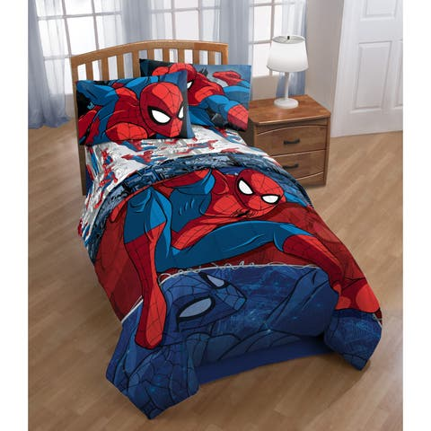 Marvel Spiderman Burst Reversible Twin Comforter