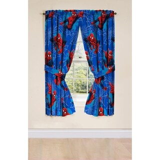 Marvel Spiderman Astonish 4 PC Curtain Set