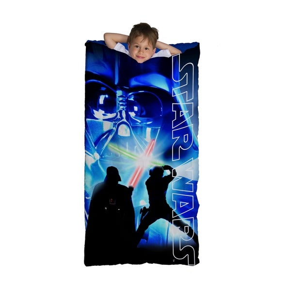 Star Wars Classic Darth Vader Light Sabeer Slumber Bag, Bonus Backpack with Straps