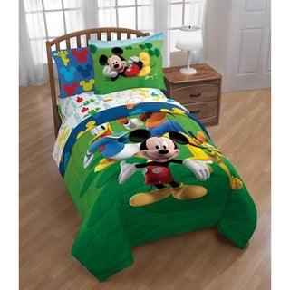 Disney Mickey Mouse Club House Adventure Twin Comforter Sham Set