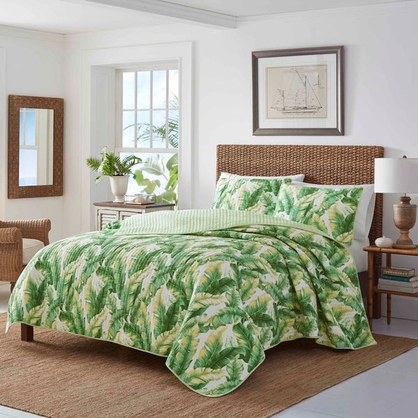 16b7d06210 Shop Tommy Bahama Anguilla Botanical Quilt Set - On Sale - Free ...