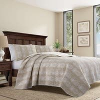 Tommy Bahama Pineapple Stripe Quilt Set