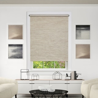 Link to Porch & Den Atwater Natural Color Jute Cord-free Privacy Shade Similar Items in Blinds & Shades