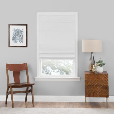 Cordless Blackout Roman Shade White