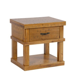 American Furniture Classics Model 521 Wood End Table/ Night Stand with one drawer and one concealed pistol drawer