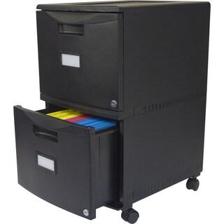 "Storex 2-Drawer Mobile File Cabinet 18.25""X14.75""X26"""