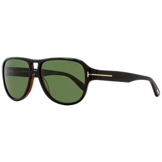 Tom Ford TF446 Dylan 05N Mens Shiny Black/Havana 57 mm Sunglasses - shiny black/havana