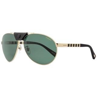 Chopard SCHB33 300P Mens Rose Gold/Black 62 mm Sunglasses - Rose Gold/Black