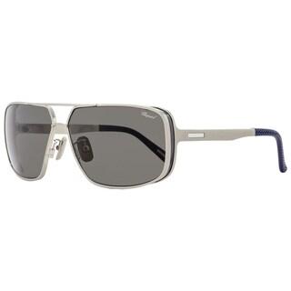 Chopard SCHA80 Q39P Mens Gunmetal/Navy Blue 64 mm Sunglasses - gunmetal/navy blue
