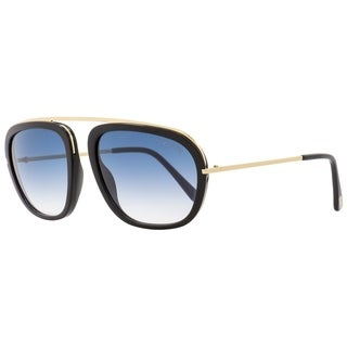 Tom Ford TF453 Johnson 01P Mens Gold/Black 57 mm Sunglasses