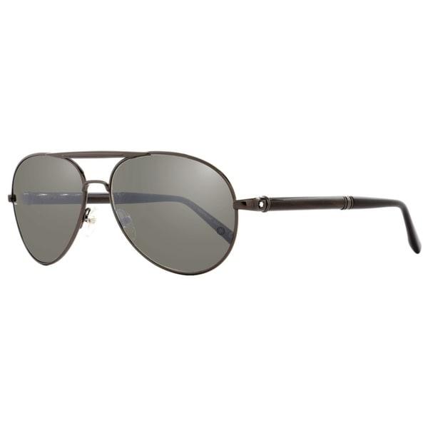 7611f14f8b8 Montblanc MB458S 08C Mens Dark Gunmetal Horn 60 mm Sunglasses - dark  gunmetal horn