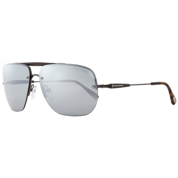 ec86c092a2 Shop Tom Ford TF380 Nils 09Q Mens Gunmetal Brown Havana 61 mm Sunglasses -  Free Shipping Today - Overstock - 20967328