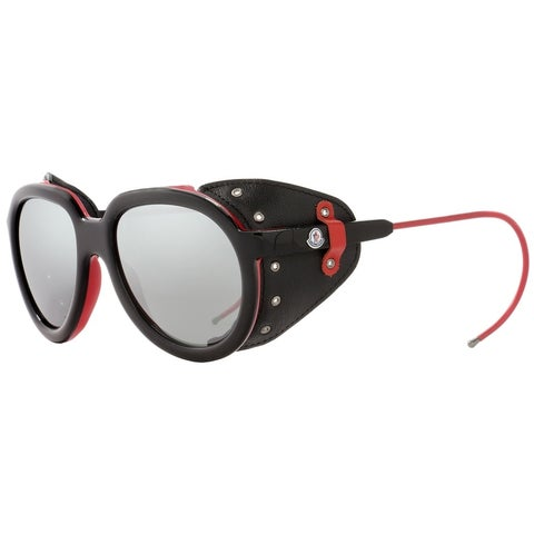 Moncler ML0003 Altitude 05C Mens Black/Red 55 mm Sunglasses