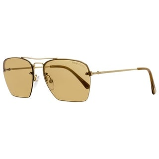 Tom Ford TF504 Walker 28E Mens Gold/Brown 57 mm Sunglasses