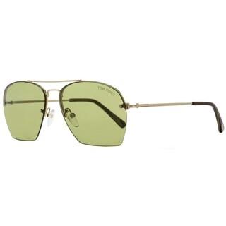Tom Ford TF505 Whelan 28N Mens Gold/Green Horn 58 mm Sunglasses - gold/green horn