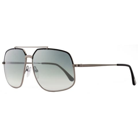 78188b0f1b92 Tom Ford TF439 Ronnie 01Q Mens Gunmetal Black 60 mm Sunglasses