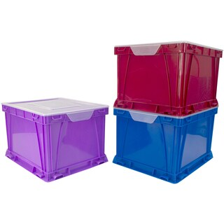 "Storex Storage And Filing Cube 17.3""X14.3""X10.5"" 3/Pkg"