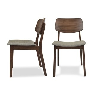 Brixton Mid Century Modern Dining Chairs Set of 2 - Upholstered Fabric Seat