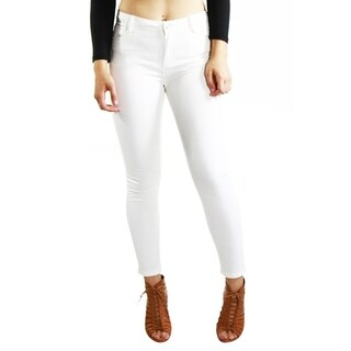 White Skinny Casual Pants