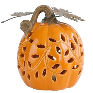 "6"" Lighted Pumpkin Decor"