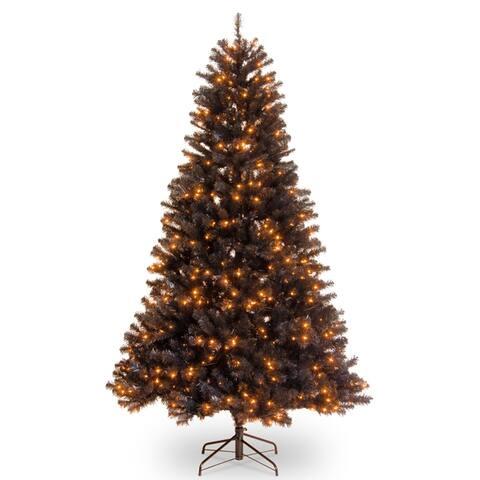 6.5 ft. North Valley® Black Spruce Tree with Orange Lights