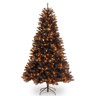 6.5 ft. North Valley® Black Spruce Tree with Orange Lights