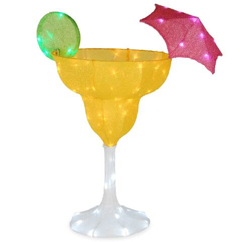 """36"""" Margarita Glass with LED Lights"""