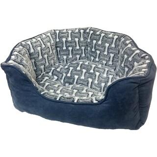 "Sleep Zone 31"" Bones Step-In Scallop Shape Dog Bed"