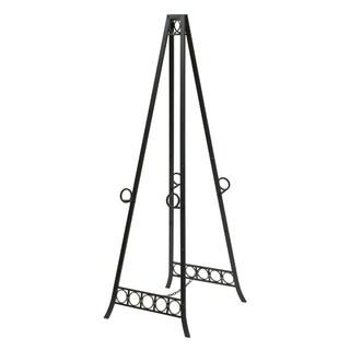 Metal Adjustable Floor Dark Bronze Double Easel