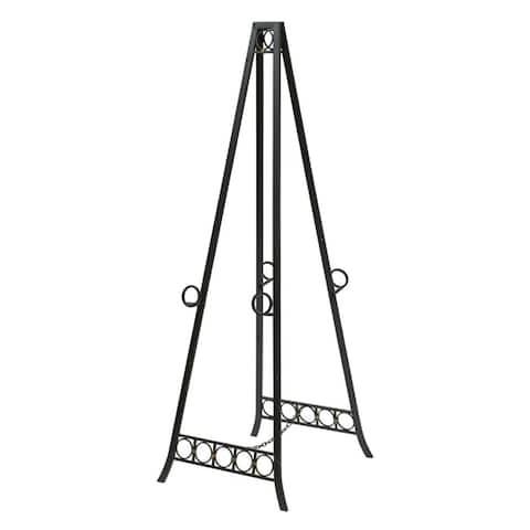 StyleCraft Metal Adjustable Floor Dark Bronze Double Easel - 20 inches