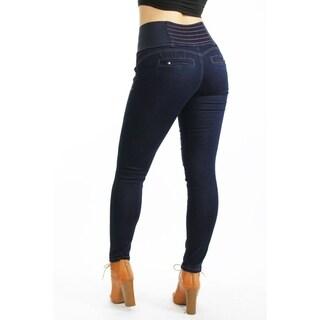 Wide Waist Skinny Stretch Jeans3 Button ClosureBelt LoopsZipper Fly97.5% Cotton 2.5% Spandex