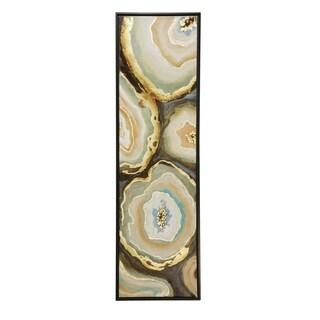StyleCraft Agate Textured Canvas Wall Art