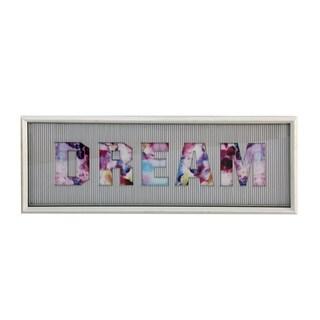 StyleCraft Dimensional Dream String Art White Frame Wall Art