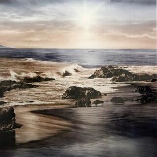 Sunset On The Sea Printed On Metal Wall Art - Multi