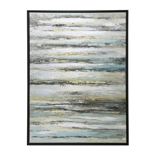 StyleCraft Contemporary Hand Painted Oil Painting Stretched Canvas Wall Art - multi