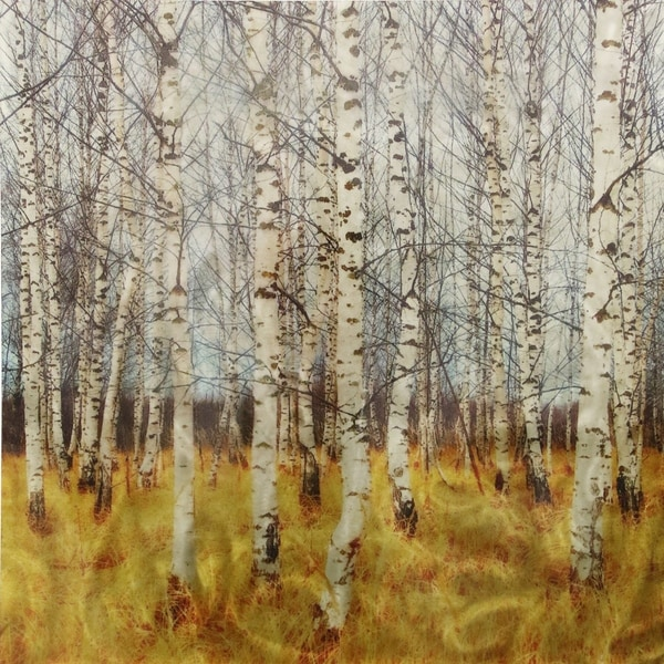 Trees Printed On Burnished Metal Panel Wall Art - Multi - Free ...