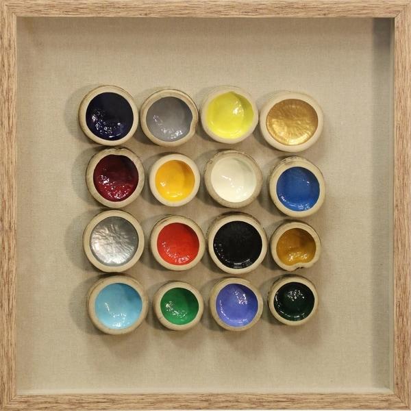 Shop Multicolored Bamboo Shadow Box Natural Wood Frame Wall Art ...