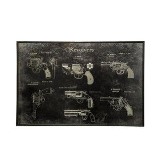 Gun Collection Printed On Metal Wall Art - Black/White