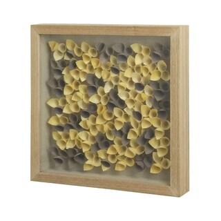 StyleCraft Wooden Natural Fibers Shadow Box Wall Art