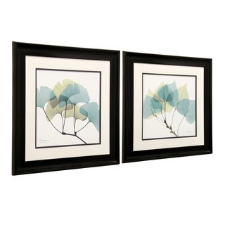 StyleCraft Leaf Framed Prints Wall Art (Set of 2)
