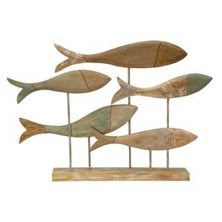 School of Fish Marine Wood Sculpture