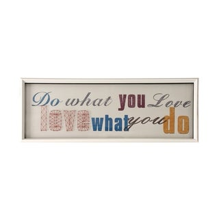 StyleCraft Do What You Love String Art White Frame Wall Art