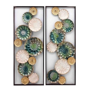 Wreathed Composition II Alternative Transitional Wall Sculptures (Set of 2)