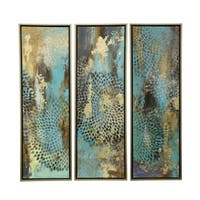 Hand Painted Framed Canvas Wall Art (Set of 3)