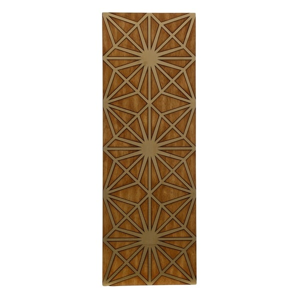 Shop Nano Plating Geometric Wooden Panel Wall Art - Free Shipping ...