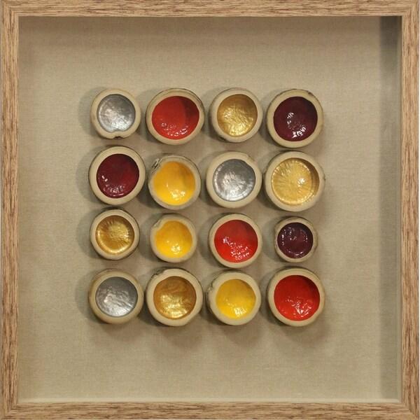 Shop Colored Bamboo Shadow Box Natural Wood Frame Wall Art - Free ...