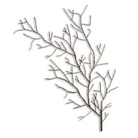 Right Silver Metal Tree Branch Wall Sculpture