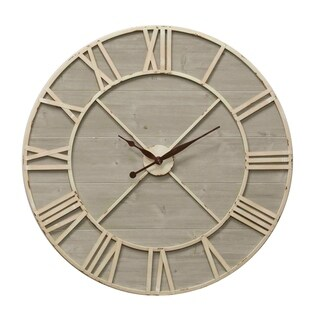 Antique Ivory and Driftwood Wall Clock