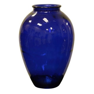 Cobalt Blue Recycled Glass Vase