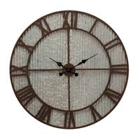 Galvanized and Rust Industrial Metal Wall Clock